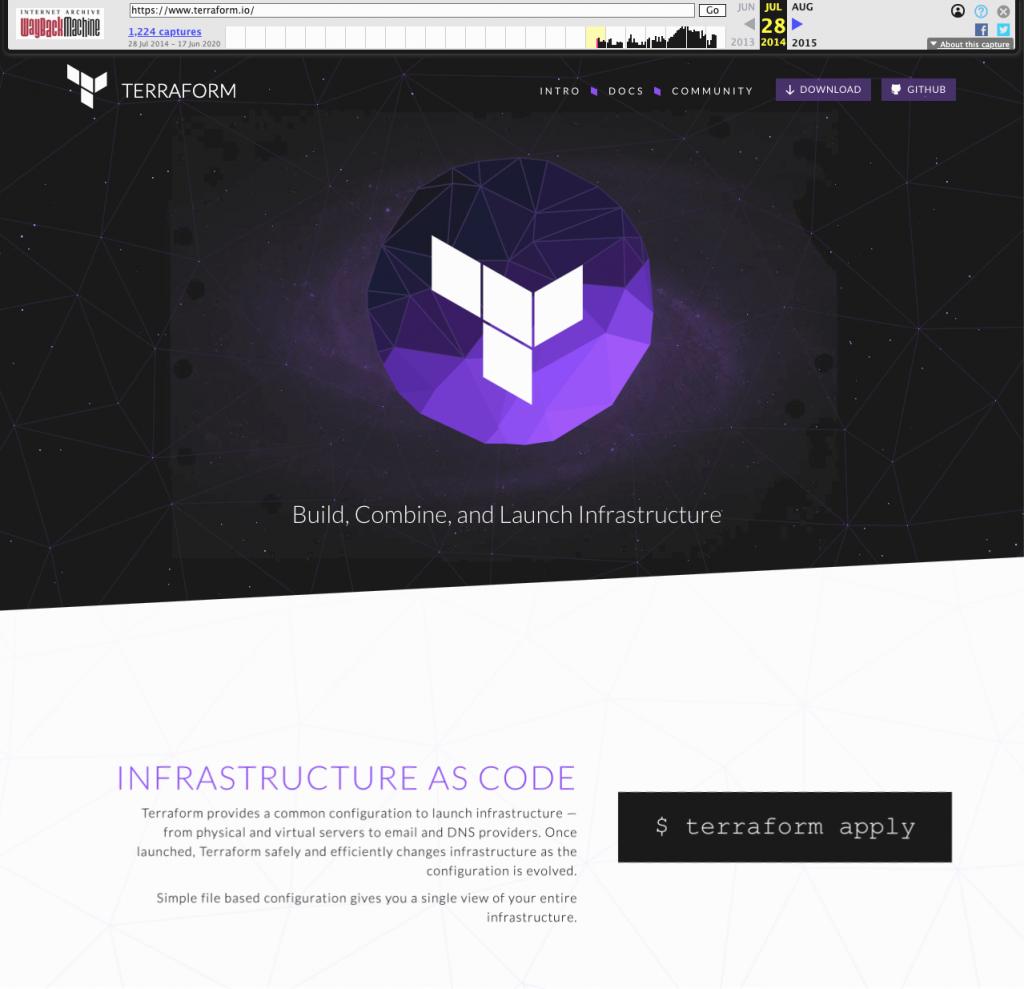 Terraform Website Screenshot