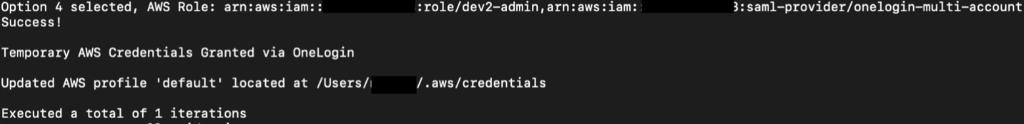 AWS credentials