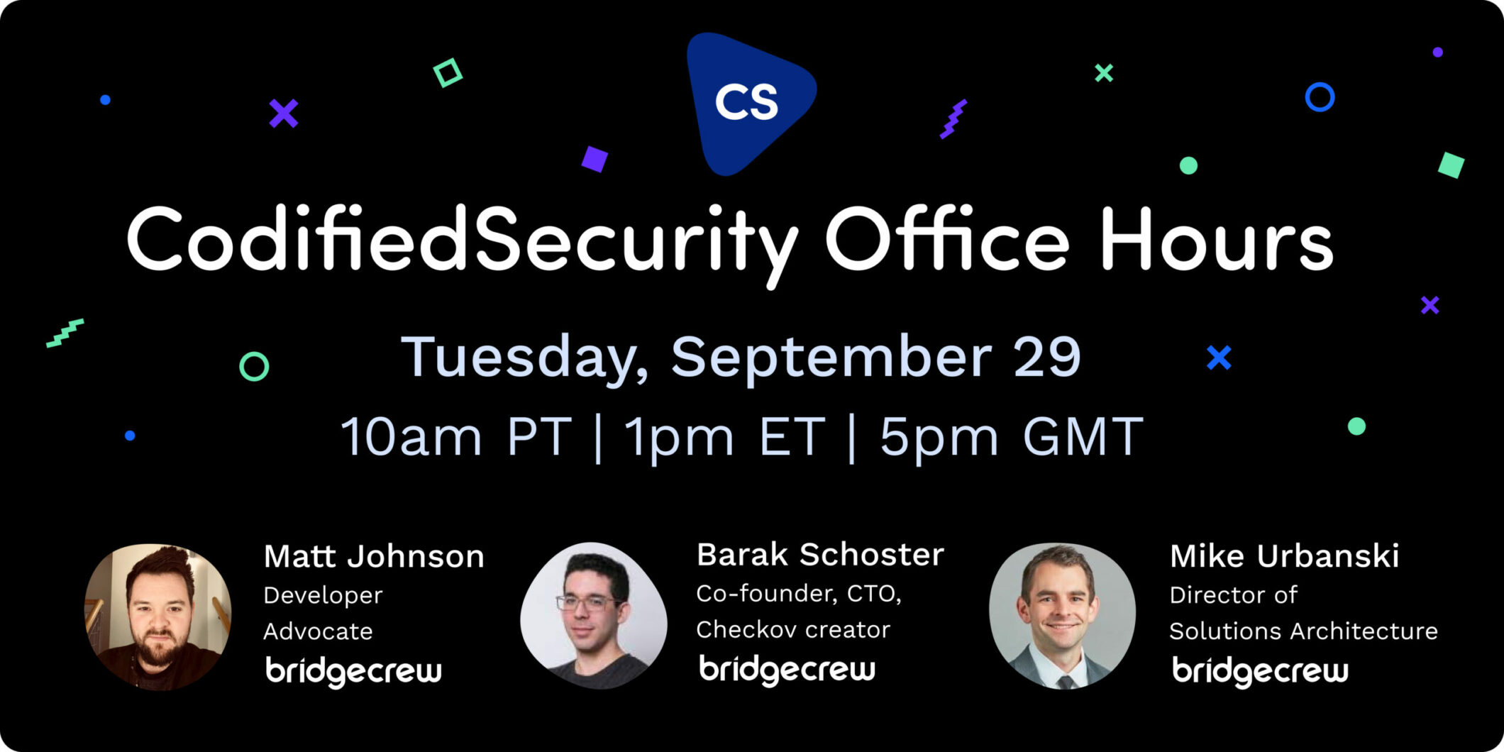 Join us for the first Codified Security Office Hours