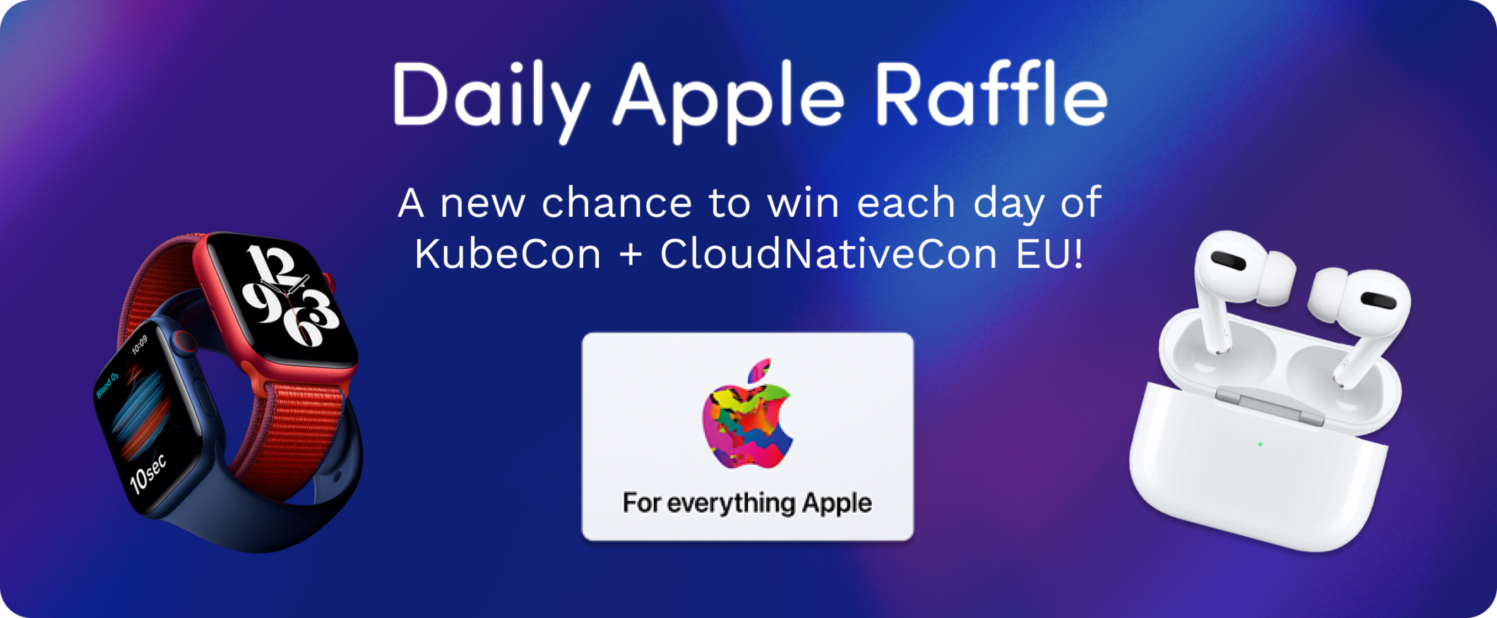 Daily Apple Raffle by Bridgecrew at KubeCon CloudNativeCon EU 2021