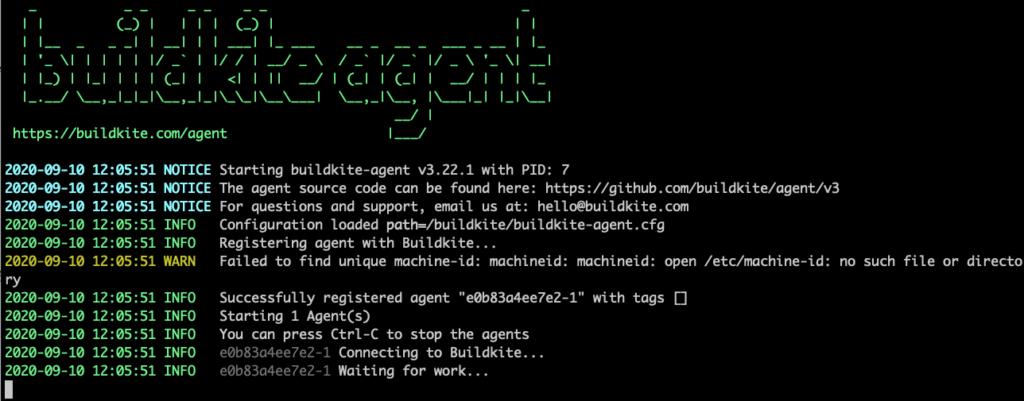 Buildkite agent docker