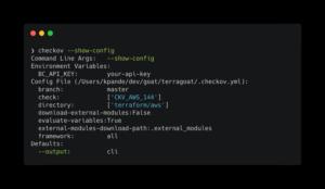 Checkov version 2.0.182 config file-1