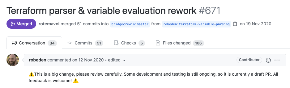 Terraform parser and variable evaluation