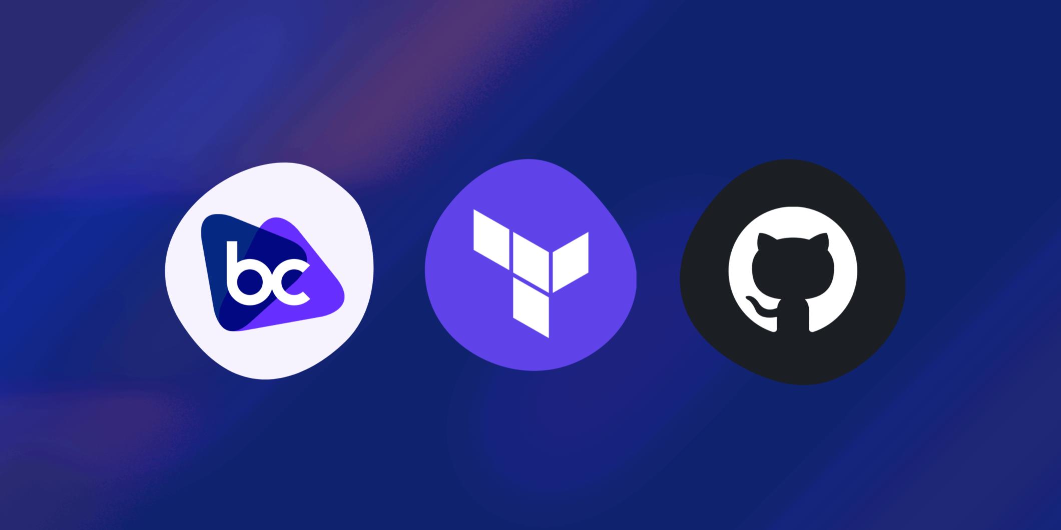 Bridgecrew, Terraform and GitHub logo's
