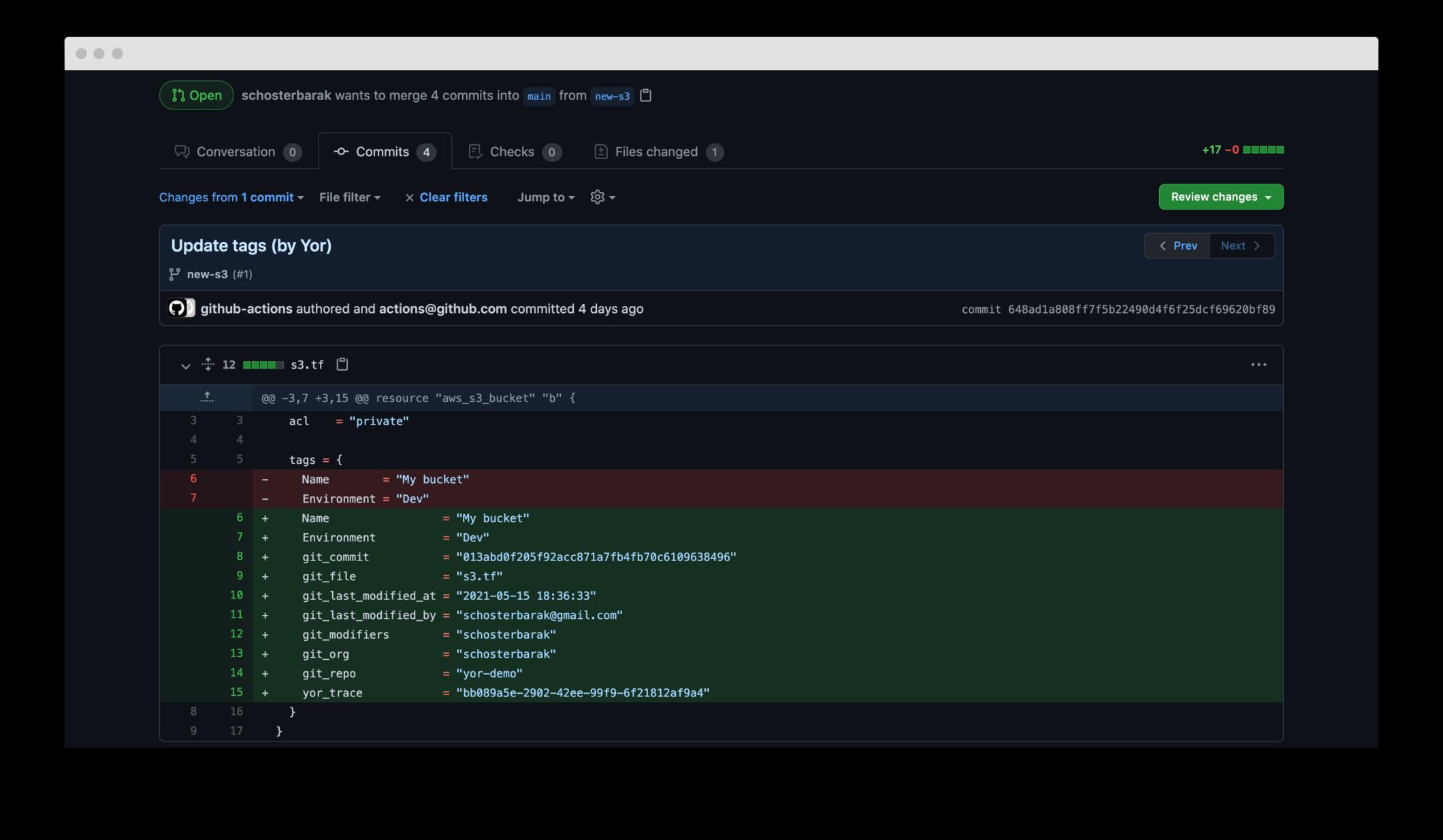 Yor additions in GitHub